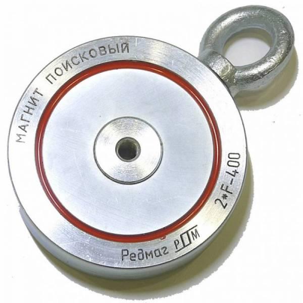 Двухсторонний поисковый магнит Редмаг 2*F400 (400 кг)