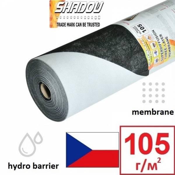 Гідроізоляція, мембрана, гідробар'єр Shadow 105г/м2, 1,5х50м, чорний