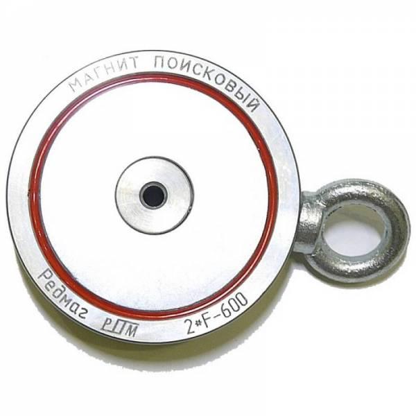 Двухсторонний поисковый магнит Редмаг 2*F600 (600 кг)