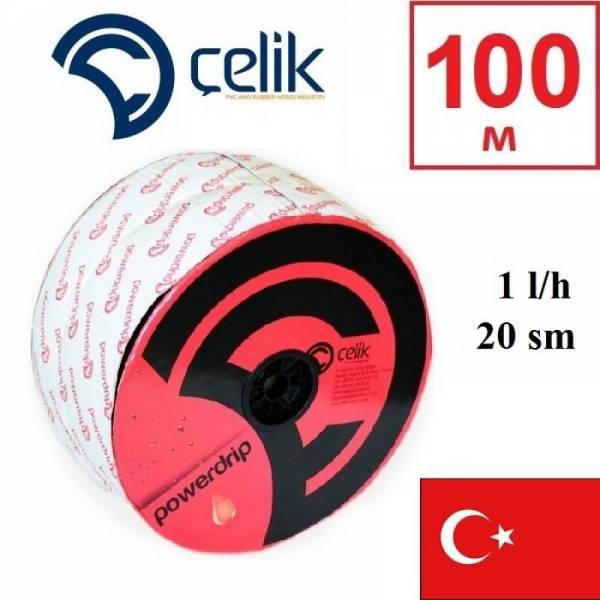 100 м эмиттерная капельная лента Celik PowerDrip