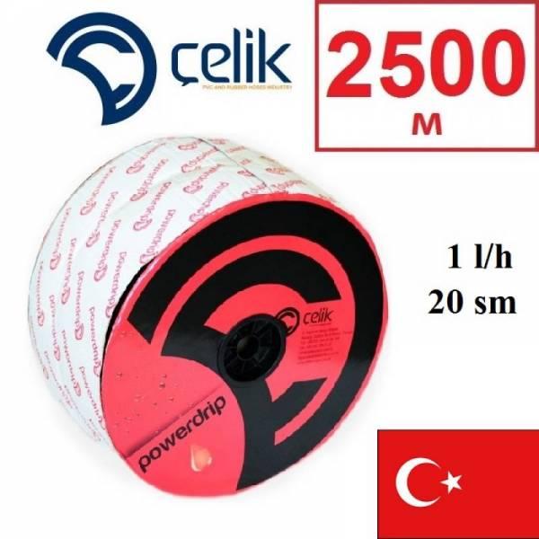 2500 м эмиттерная капельная лента Celik PowerDrip