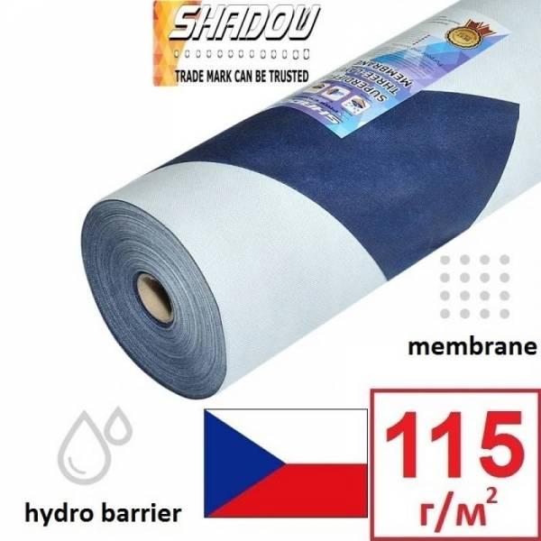 Гідроізоляція, мембрана, гідробар'єр Shadow 115г/м2, 1,5х50м, синій