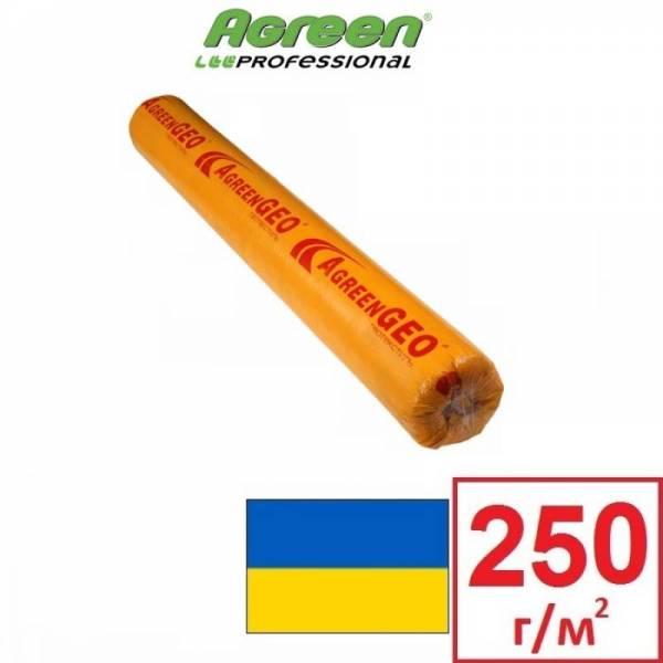 Геотекстиль Agreen GEO П-250 плотностью 250 г/м2, белый, 1,6х25м