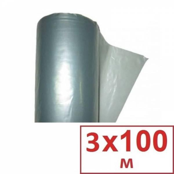Строительная техническая пленка серая 40 мкм, 3 х 100м