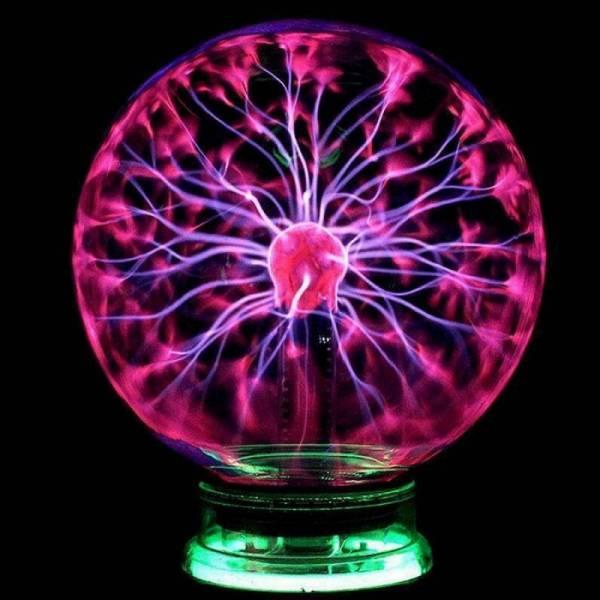 Тесла плазменный шар электрический с молниями 15 см