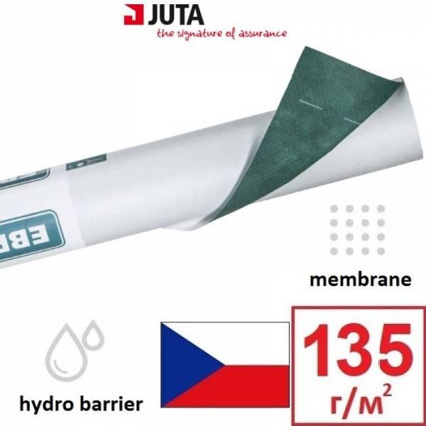 Гидроизоляция, мембрана, евробарьер Плюс Juta плотностью 135г/м2, 1,5х50м