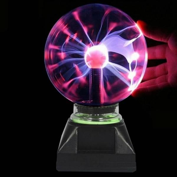 Тесла плазменный шар электрический с молниями 18 см
