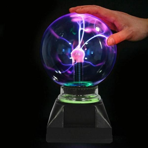 Тесла плазменный шар электрический с молниями 12 см