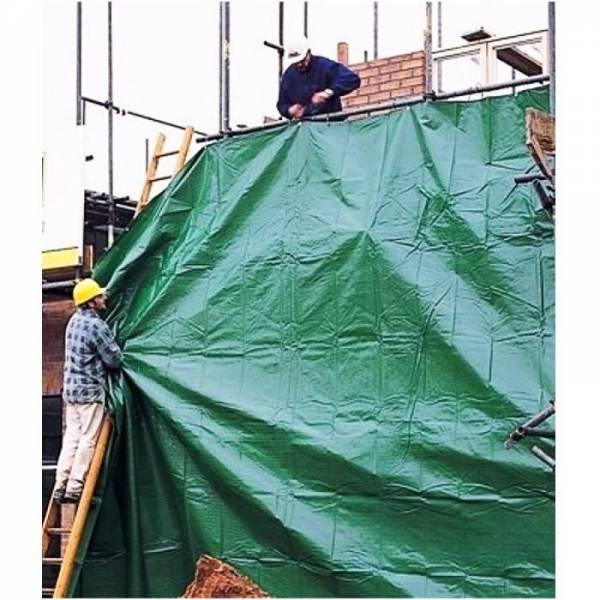 Тент тарпаулин плотностью 90г/м2, зеленый, 3х3м