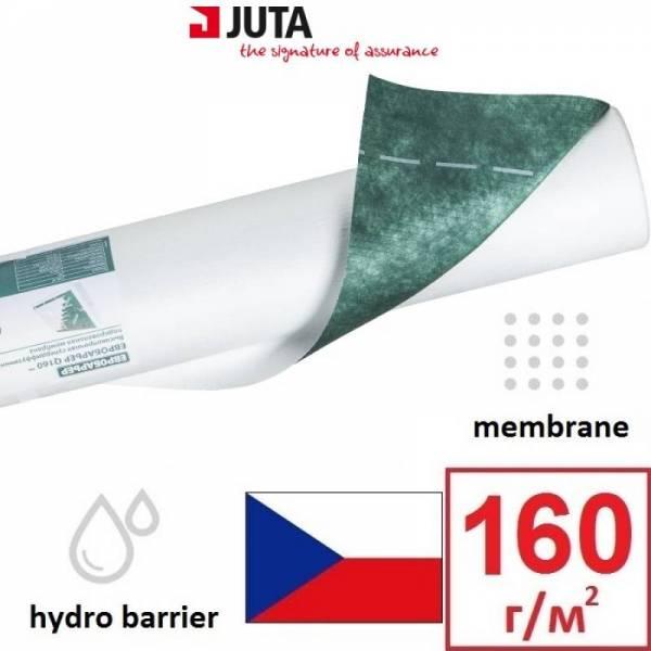 Гидроизоляция, мембрана, евробарьер Q160 Juta плотностью 160г/м2, 1,5х50м