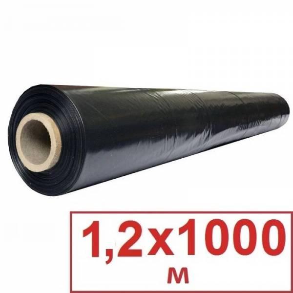 Пленка мульчирующая черная 25 мкм, 1,2 х 1000м