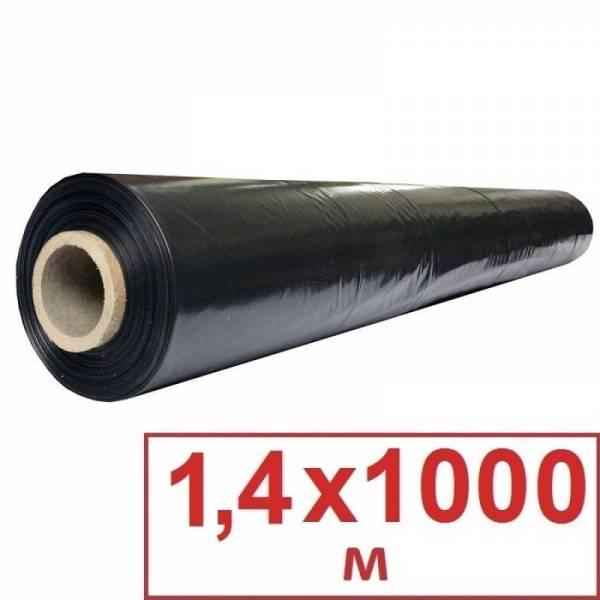 Пленка мульчирующая черная 25 мкм, 1,4 х 1000м