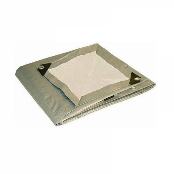 Тарпаулин для сена, 220г/м2, серо-белый, 3,5х7м