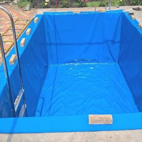 Пленка полиэтиленовая для бассейна 200 мкм, 6 х 50м