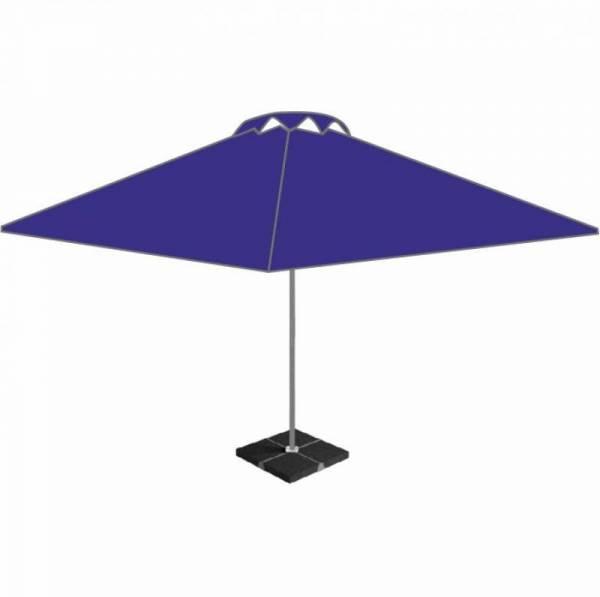 Большой уличный пивной барный зонт 4х4 м с клапаном