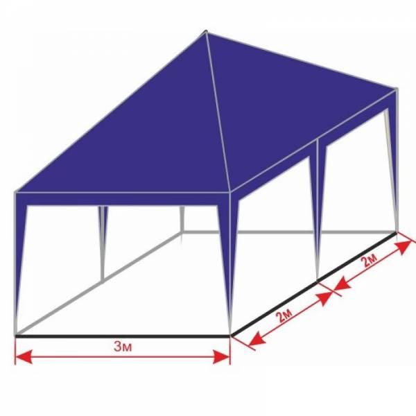 Разборной шатер 3х4 м с тентом плотностью 150 г/м2