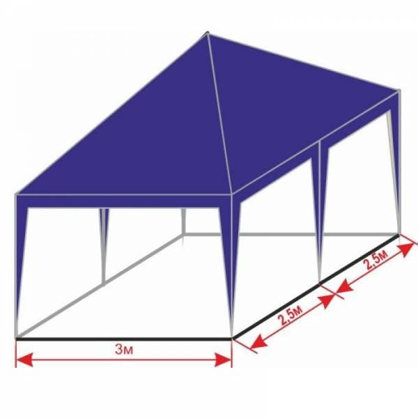 Разборной шатер 3х5 м с тентом плотностью 150 г/м2