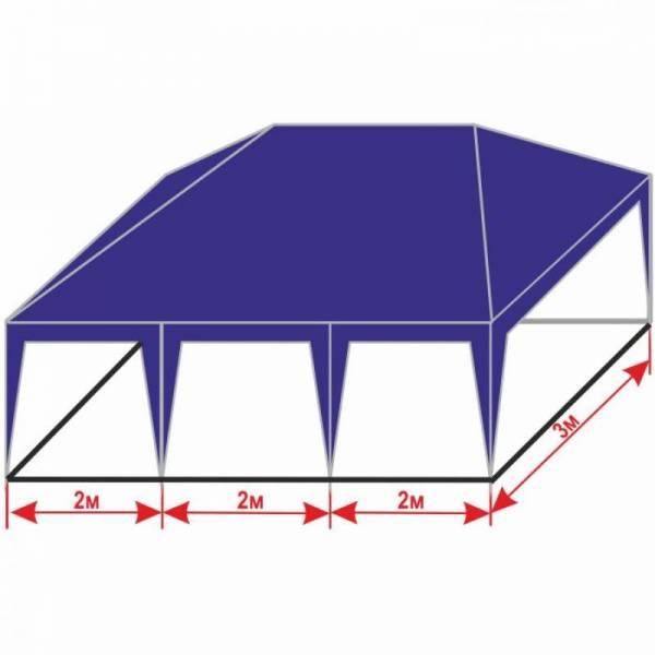 Разборной шатер 3х6 м с тентом плотностью 150 г/м2