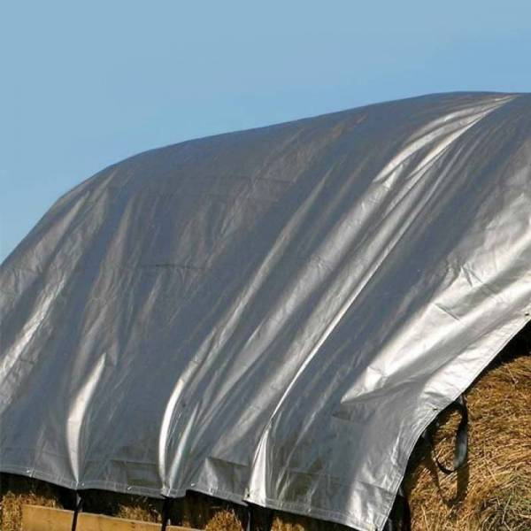 Тент для сена плотностью 120г/м2, серый, 10х15м