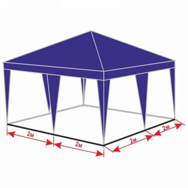 Разборной шатер 4х4 м с тентом плотностью 150 г/м2