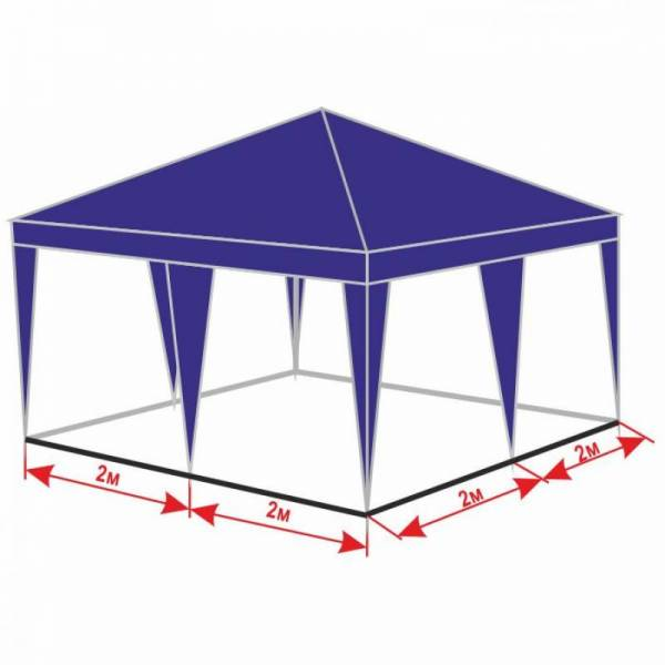 Разборной шатер беседка 4х4 м с тентом плотностью 150 г/м2