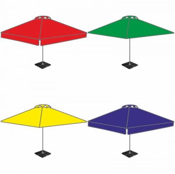 Большой уличный квадратный торговый зонт 3х3 м для кафе