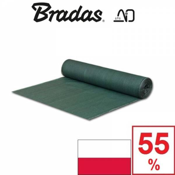 Сетка затеняющая Брадас Bradas 55% 2 х 120 м