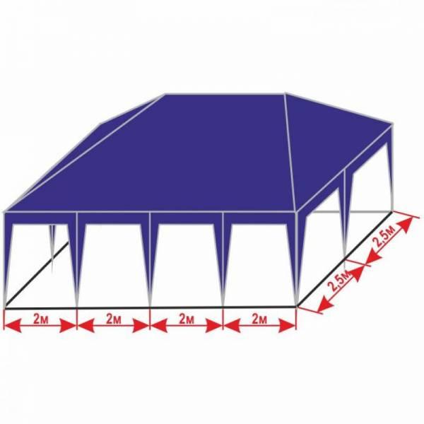 Большой разборной шатер 5х8 м с тентом плотностью 150 г/м2