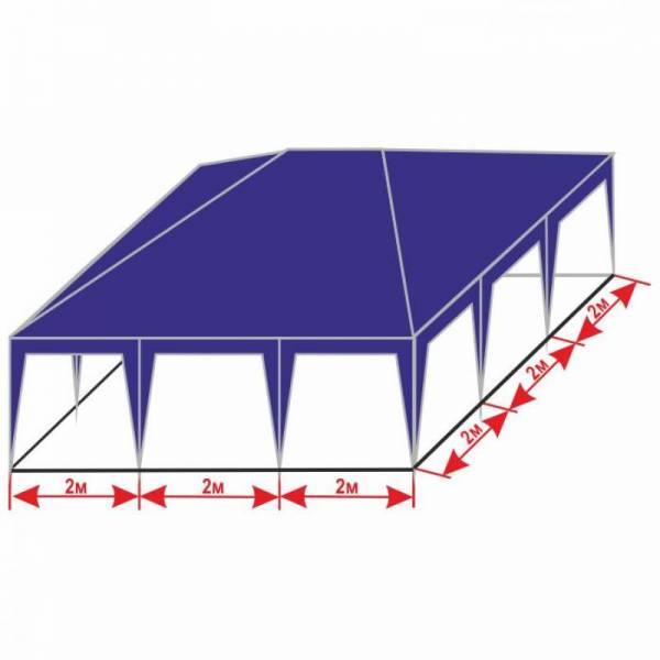 Разборной шатер 6х6 м с тентом плотностью 150 г/м2