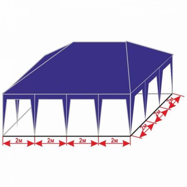 Красивый разборной шатер 6х8 м с тентом плотностью 150 г/м2