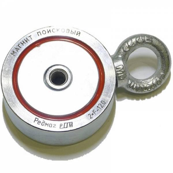 Двухсторонний поисковый магнит Редмаг 2*F120 (120 кг)