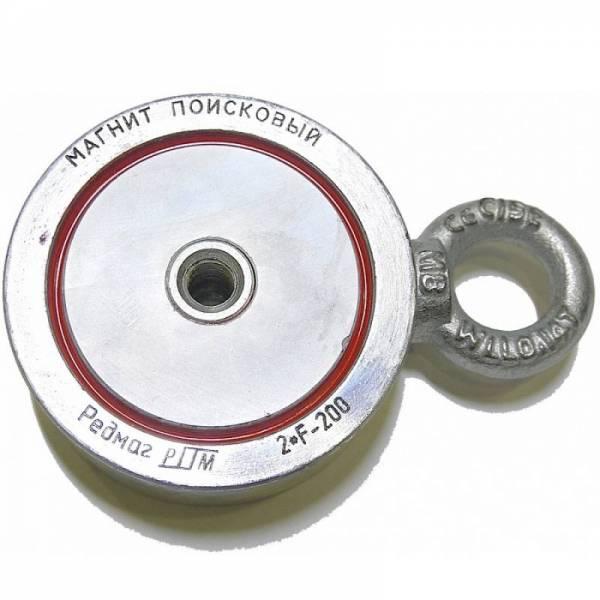 Двухсторонний поисковый магнит Редмаг 2*F200 (200 кг)