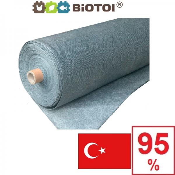 Серебряная сетка затеняющая Биотол, Biotol 95% 20 х 4 м