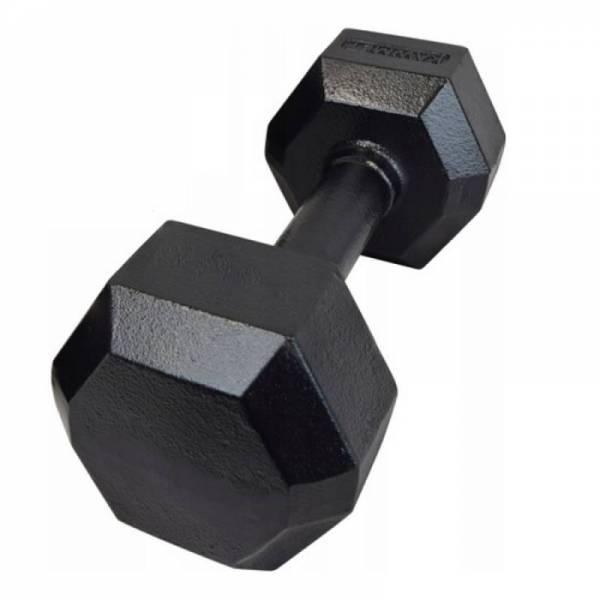 Гантель чугунная шестигранная 12,5 кг