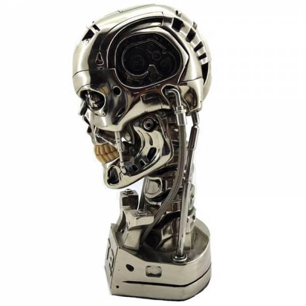 Голова терминатора T800, череп статуэтка
