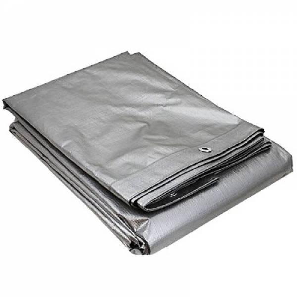 Тент тарпаулин для авто, 200г/м2, серый, 12х18м
