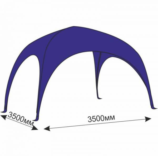 Арочный шатер 3,5х3,5 м