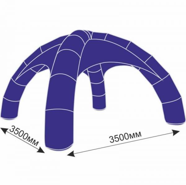 Надувной шатер 3,5х3,5 м с тентом плотностью 150 г/м2