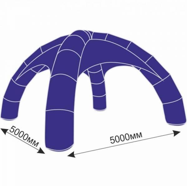 Надувной шатер 5х5 м с тентом плотностью 150 г/м2