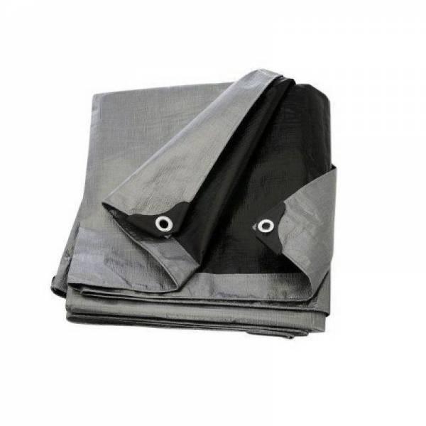 Тент для зерна, 180г/м2, серо-черный, 8х12м