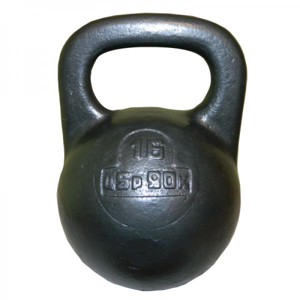 Советская спортивная чугунная гиря 16 кг (КЛЗ)
