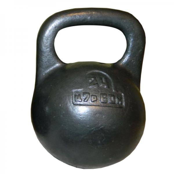 Советская спортивная чугунная гиря 24 кг (КЛЗ)