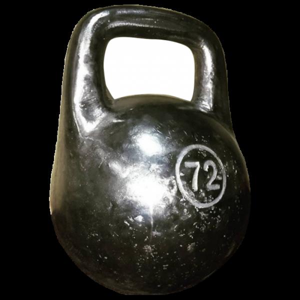 Чугунная спортивная литая гиря Кроссфит 72 кг