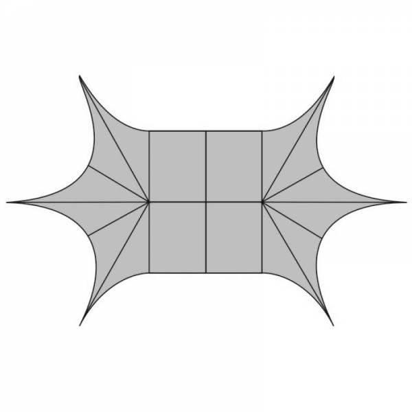 Шатер Звезда 14х9, 16х10, 19х12, 22х14м (с двумя и более опорами)