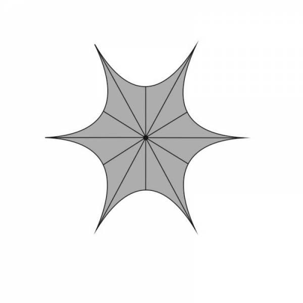 Шатер Звезда 6м, 8м, 10м, 12м, 14м (с одной опорой)