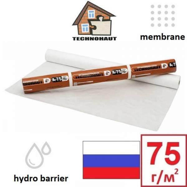 Гідроізоляція, гідробар'єр Технохаут A-75 TECHNOHAUT 75г/м2, 1,6х43,75м