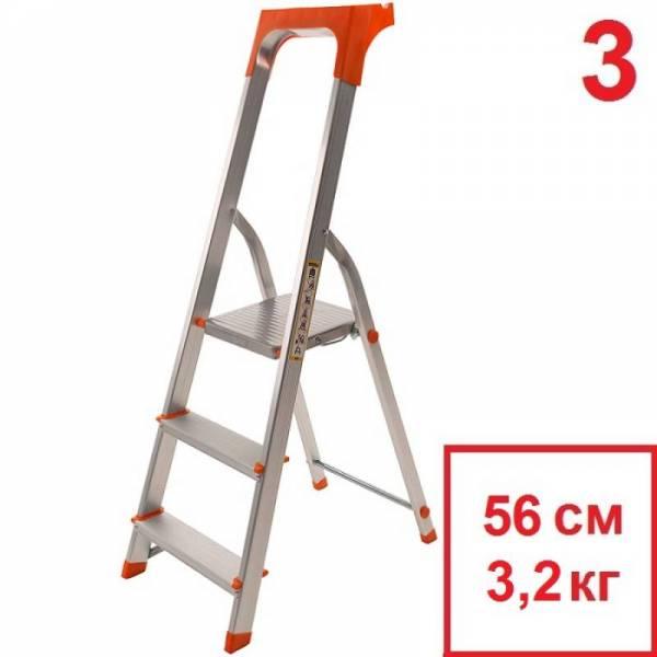 Драбина алюмінієва з лотком від 3 до 8 сходинок