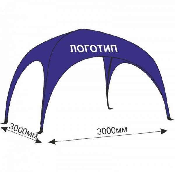 Рекламный арочный шатер 3х3 м с печатью, с логотипом для агитации
