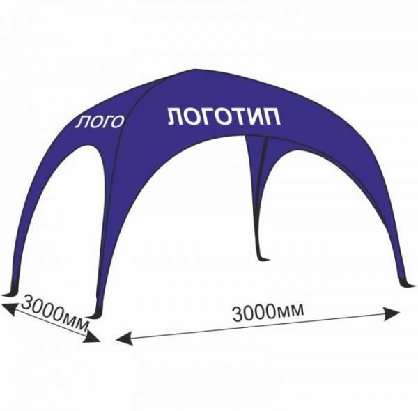 Брендированный промо арочный шатер 3х3 м с нанесением рекламы