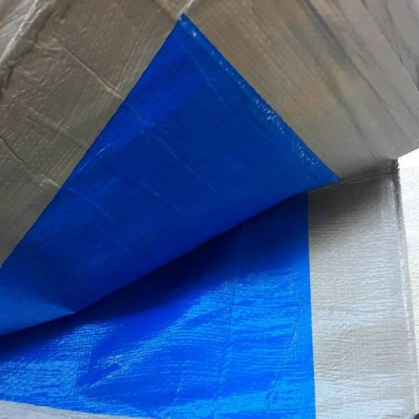 Тарпаулин для крыши, 180г/м2, серо-голубой, 8х10м